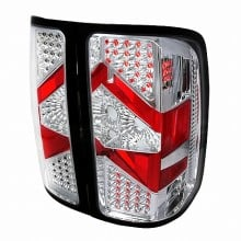 2007-2012 GMC SIERRA LED TAIL LIGHTS (PAIR) CHROME (Spec-D Tuning)