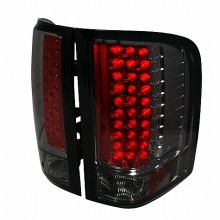 2007-2011 CHEVY SILVERADO LED TAIL LIGHTS (PAIR) SMOKE (Spec-D Tuning)