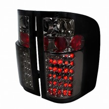 2007-2011 CHEVY SILVERADO LED TAIL LIGHTS (PAIR) SMOKE (Spec-D Tuning)