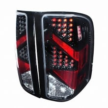 2007-2011 CHEVY SILVERADO LED TAIL LIGHTS (PAIR) BLACK (Spec-D Tuning)