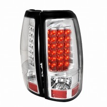 1999-2002 CHEVY SILVERADO LED TAIL LIGHTS (PAIR) CHROME (Spec-D Tuning)
