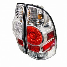 2005-2012 TOYOTA  TACOMA  LED TAIL LIGHTS (PAIR) CHROME HOUSING (Spec-D Tuning)