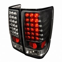 2004-2012 NISSAN TITAN LED TAIL LIGHTS (PAIR) BLACK (Spec-D Tuning)