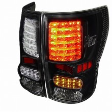 2007-2012 TOYOTA  TUNDRA  LED TAIL LIGHTS (PAIR) BLACK HOUSING  (Spec-D Tuning)
