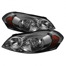 2006-2012 Chevy Impala Crystal HeadLights (PAIR) - Smoke (Spyder Auto)