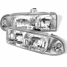 1998-2004 Chevy S10 Crystal HeadLights (PAIR) - Chrome (Spyder Auto)