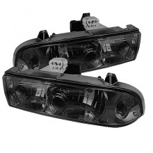 1998-2004 Chevy S10 Crystal HeadLights (PAIR) - Smoke (Spyder Auto)