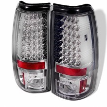 2004-2006 GMC Sierra 1500/2500/3500 ( Does Not Fit Stepside ) LED Tail Lights (PAIR) - Chrome (Spyder Auto)
