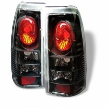 1999-2003 GMC Sierra 1500/2500/3500 Euro Style Tail Lights (PAIR) - Black (Spyder Auto)