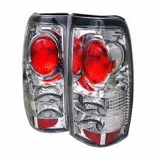 1999-2003 GMC Sierra 1500/2500/3500 Euro Style Tail Lights (PAIR) - Chrome (Spyder Auto)