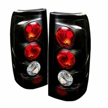 1999-2003 GMC Sierra 1500/2500/3500 Euro Style Tail Lights (PAIR) G2 Version - Black (Spyder Auto)