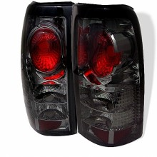 1999-2003 GMC Sierra 1500/2500/3500 Euro Style Tail Lights (PAIR) - Smoke (Spyder Auto)