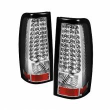 2004-2006 GMC Sierra 1500/2500/3500 Fleetside LED Tail Lights (PAIR) - Chrome (Spyder Auto)