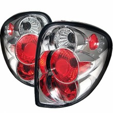 2001-2007 Dodge Caravan Euro Style Tail Lights (PAIR) - Chrome (Spyder Auto)