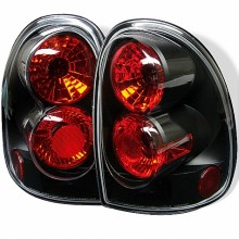 1996-2000 Dodge Caravan Euro Style Tail Lights (PAIR) - Black (Spyder Auto)