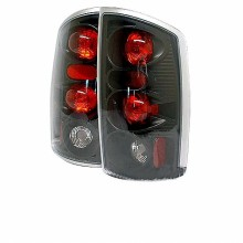 2002-2006 Dodge Ram 1500 Euro Style Tail Lights (PAIR) - Black (Spyder Auto)