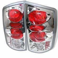 2002-2006 Dodge Ram 1500 Euro Style Tail Lights (PAIR) - Chrome (Spyder Auto)
