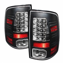 2009-2012 Dodge Ram 1500 LED Tail Lights (PAIR) - Black (Spyder Auto)
