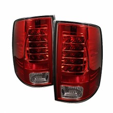 2009-2012 Dodge Ram 1500 LED Tail Lights (PAIR) - Red Clear (Spyder Auto)
