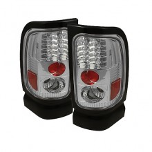 1994-2001 Dodge Ram 1500 LED Tail Lights (PAIR) - Chrome (Spyder Auto)