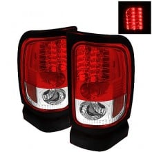 1994-2001 Dodge Ram 1500 LED Tail Lights (PAIR) - Red Clear (Spyder Auto)