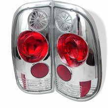 1997-2003 Ford F150 Styleside Euro Style Tail Lights (PAIR) - Chrome (Spyder Auto)