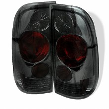 1997-2003 Ford F150 Styleside Euro Style Tail Lights (PAIR) - Smoke (Spyder Auto)