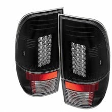 1997-2003 Ford F150 Styleside LED Tail Lights (PAIR) - Black (Spyder Auto)