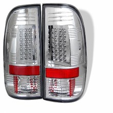 1997-2003 Ford F150 Styleside LED Tail Lights (PAIR) - Chrome (Spyder Auto)