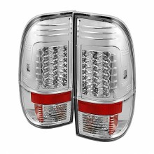 1997-2003 Ford F150 Styleside Version 2 LED Tail Lights (PAIR) - Chrome (Spyder Auto)
