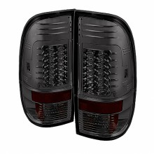 1997-2003 Ford F150 Styleside Version 2 LED Tail Lights (PAIR) - Smoke (Spyder Auto)