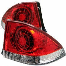 2001-2003 Lexus IS300 LED Tail Lights (PAIR) - Red Clear (Spyder Auto)