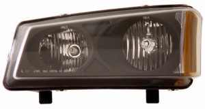 2003-2006 CHEVY SILVERADO CRYSTAL HEADLIGHTS (PAIR) BLACK AMBER   (Anzo USA)