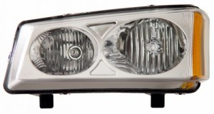 2003-2006 CHEVY SILVERADO CRYSTAL HEADLIGHTS (PAIR) CLEAR AMBER   (CG Distribution)