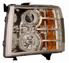 2007-2013 CHEVY SILVERADO PROJECTOR HEADLIGHTS (PAIR) CHROME CLEAR(CCFL)  (CG Distribution)