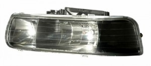 1999-2002 CHEVY SILVERADO BLACK HEADLIGHTS (PAIR)   (CG Distribution)