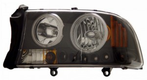 1997-2004 DODGE DAKOTA 1 PC L HEADLIGHTS (PAIR) HALO BLACK WITH AMBER (CCFL)   (Anzo USA)