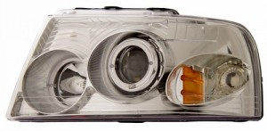 2003-2006 FORD EXPEDITION PROJECTOR HEADLIGHTS (PAIR) HALO CHROME CLEAR AMBER   (Anzo USA)