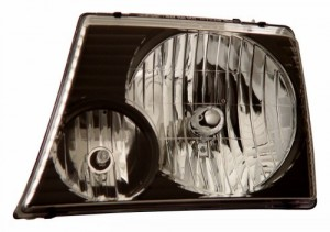 2002-2005 FORD EXPLORER HEADLIGHTS (PAIR) BLACK   (CG Distribution)