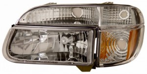 1995-2001 FORD EXPLORER CRYSTAL HEADLIGHTS (PAIR) CHROME AMBER   (Anzo USA)