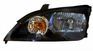 2005-2007 FORD FOCUS ZX4 HEADLIGHTS (PAIR) 4-DOOR SEDAN BLACK  (CG Distribution)