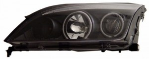 2005-2007 FORD FOCUS ZX4 PROJECTOR HEADLIGHTS (PAIR) 4-DOOR SEDAN HALO BLACK CLEAR(CCFL)  (Anzo USA)