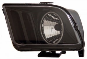 2005-2009 FORD MUSTANG HEADLIGHTS (PAIR) HALO BLACK (CCFL)   (CG Distribution)