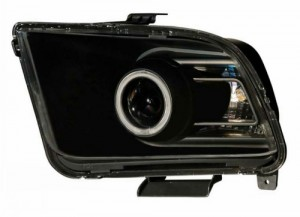 2005-2009 FORD MUSTANG PROJECTOR HEADLIGHTS (PAIR) G2 HALO BLACK CLEAR(CCFL)(10 STYLE)  (Anzo USA)