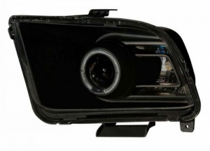 2005-2009 FORD MUSTANG PROJECTOR HEADLIGHTS (PAIR) HALO SMOKE CLEAR (10 STYLE)  (CG Distribution)