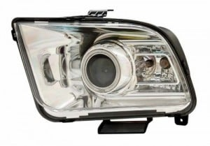 2005-2009 FORD MUSTANG PROJECTOR HEADLIGHTS (PAIR) G2 HALO CHROME CLEAR(CCFL)(10 STYLE)  (CG Distribution)
