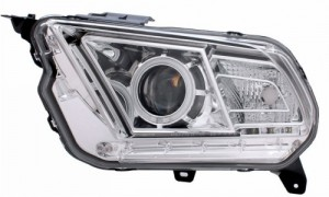 2010-2012 FORD MUSTANG PROJECTOR HEADLIGHTS (PAIR) HALO CHROME CLEAR (HID COMPATIBLE&CCFL)  (Anzo USA)