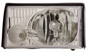 1987-1993 FORD MUSTANG CRYSTAL HEADLIGHTS (PAIR) CLEAR (Plus Corner 09-FM87CLE-A and Parking 09-FM8793PLE will b  (CG Distribution)
