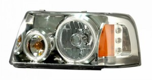 2001-2009 FORD RANGER HEADLIGHTS (PAIR) HALO 1 PCS CHROME AMBER (CCFL)  (Anzo USA)