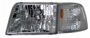 1993-1997 FORD RANGER HEADLIGHTS (PAIR) CLEAR WITH CORNER AMBER  (CG Distribution)